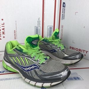 aucony Womens Ride 6 Green Shoes 10200-6 Size 8.5
